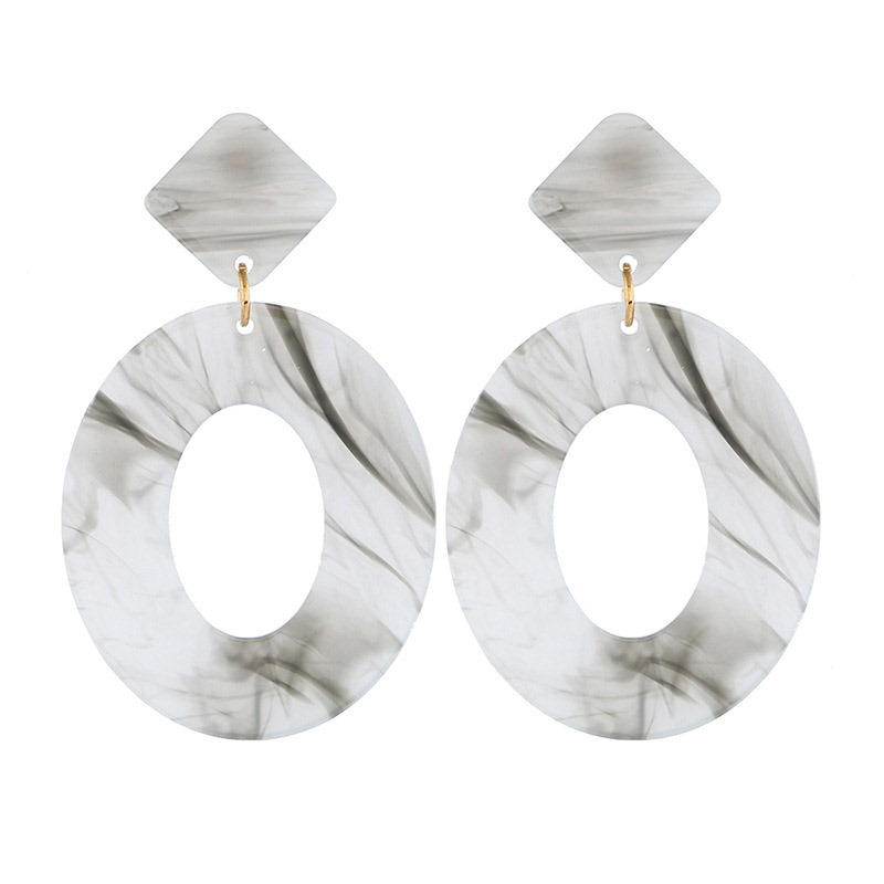 Ericdress Amber Hollow Out Drop Earrings