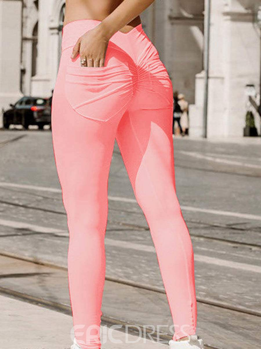 Ericdress Polyester Solid Quick Dry Spring Full Length Leggings