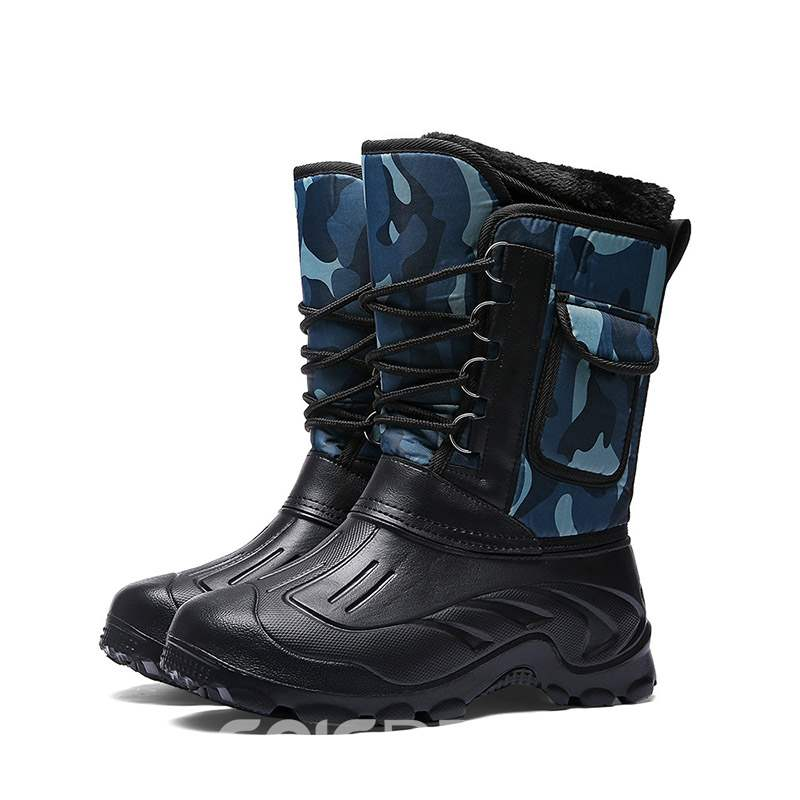 Ericdress Round Toe Waterproof Men's Winter Boots