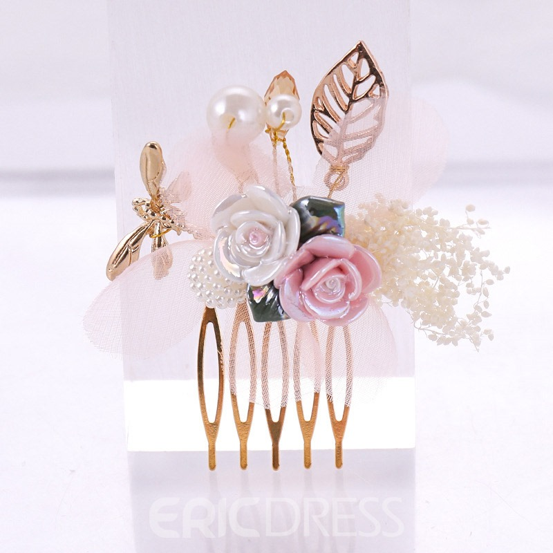Ericdress Wedding Shell Floral Hairpin