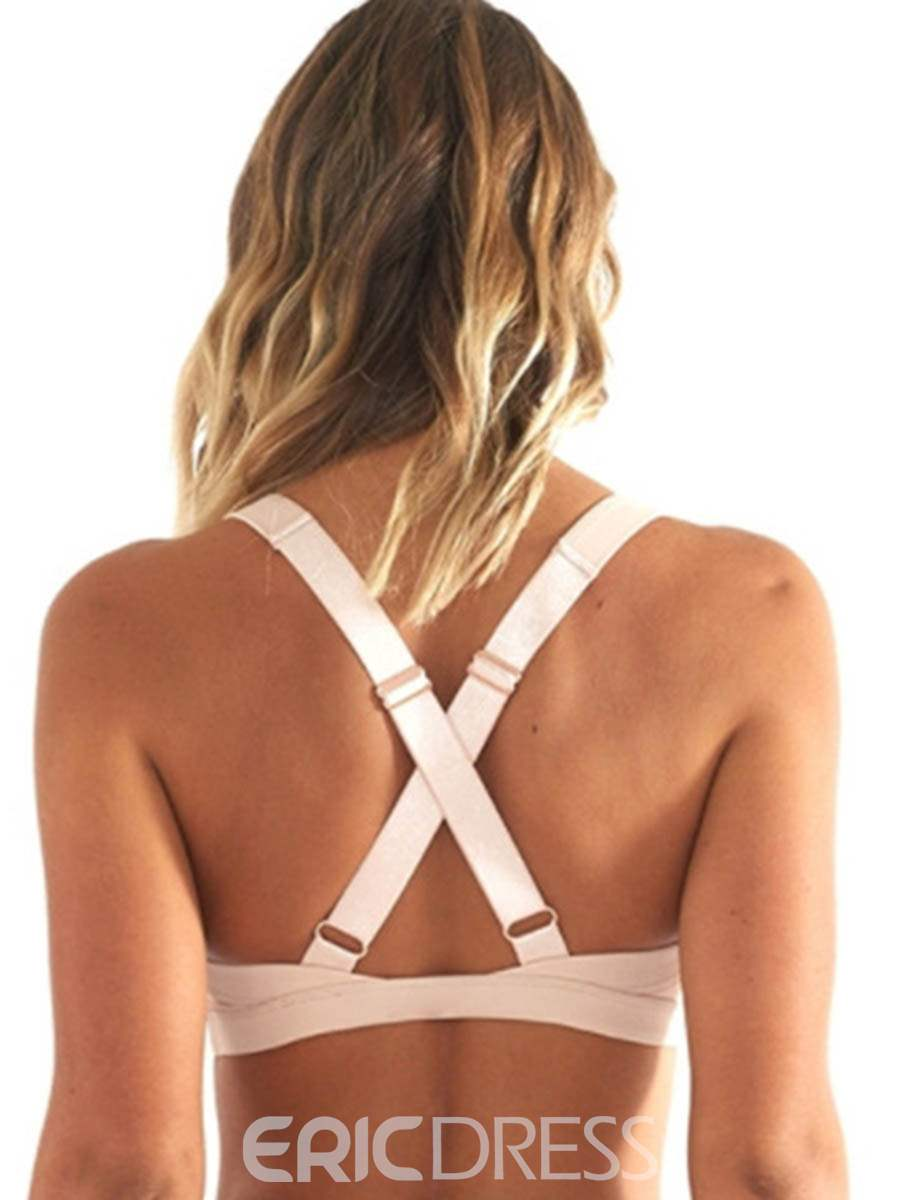 Ericdress Breathable Plain Adjusted-Straps Free Wire Sports Bras