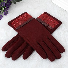 Ericdress Lace Warm Winter Gloves