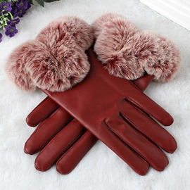 Ericdress Leather Fashion Winter Gloves