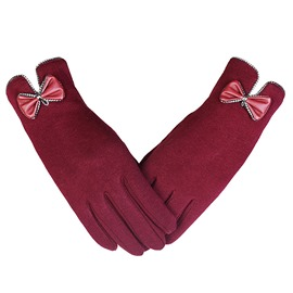 Ericdress Casual Bowknot Winter Gloves