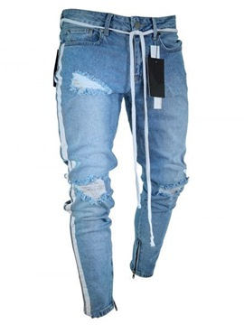 Ericdress Pocket Mens Mid Waist Jeans