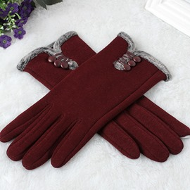Ericdress Warm Plain Winter Gloves