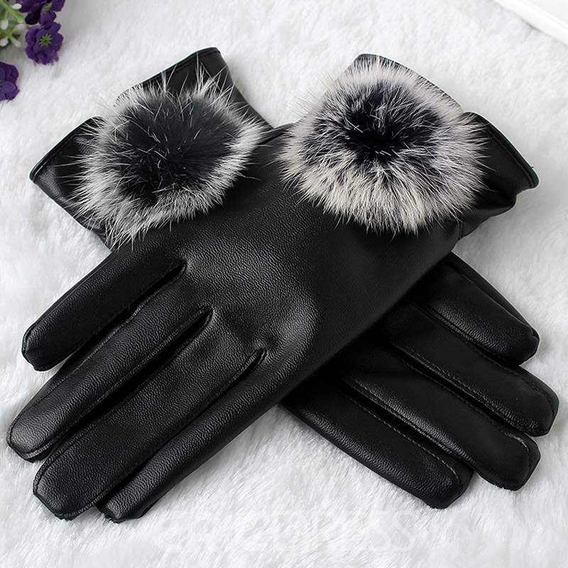Ericdress Leather Simple Winter Gloves