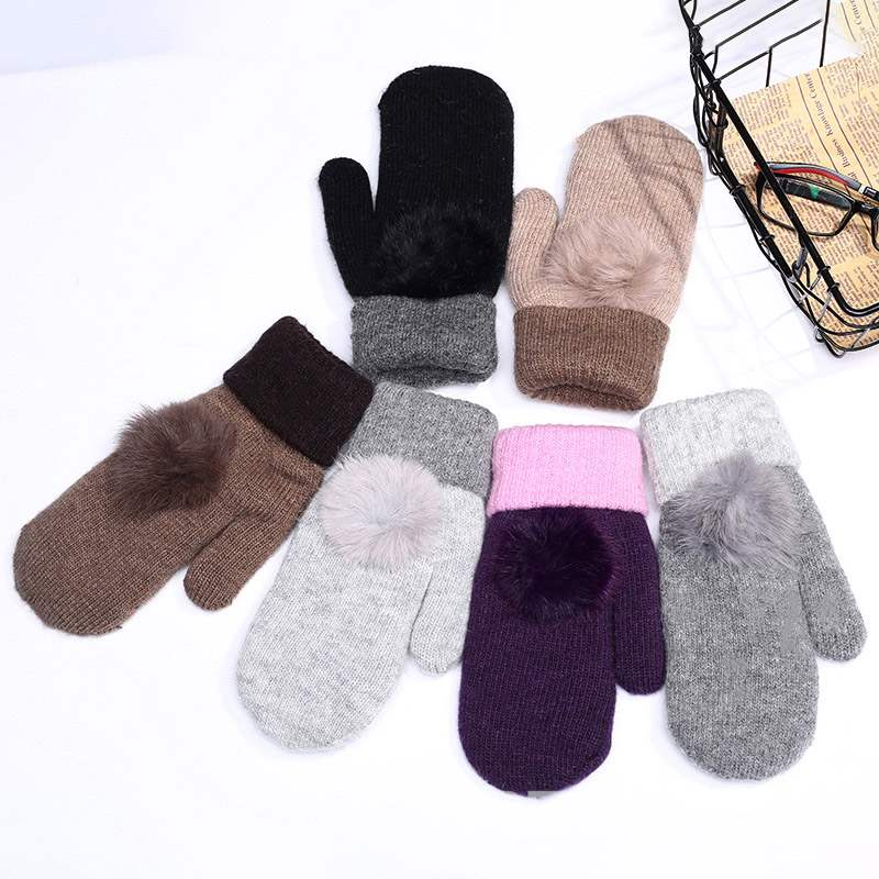 Ericdress Color Block Plush Winter Gloves