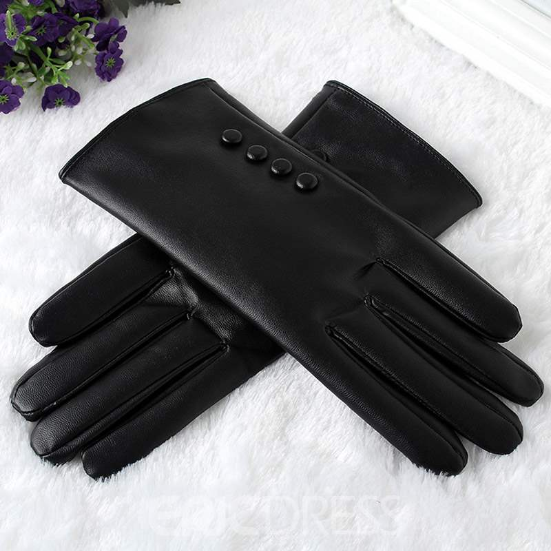 Ericdress Simple Leather Winter Gloves