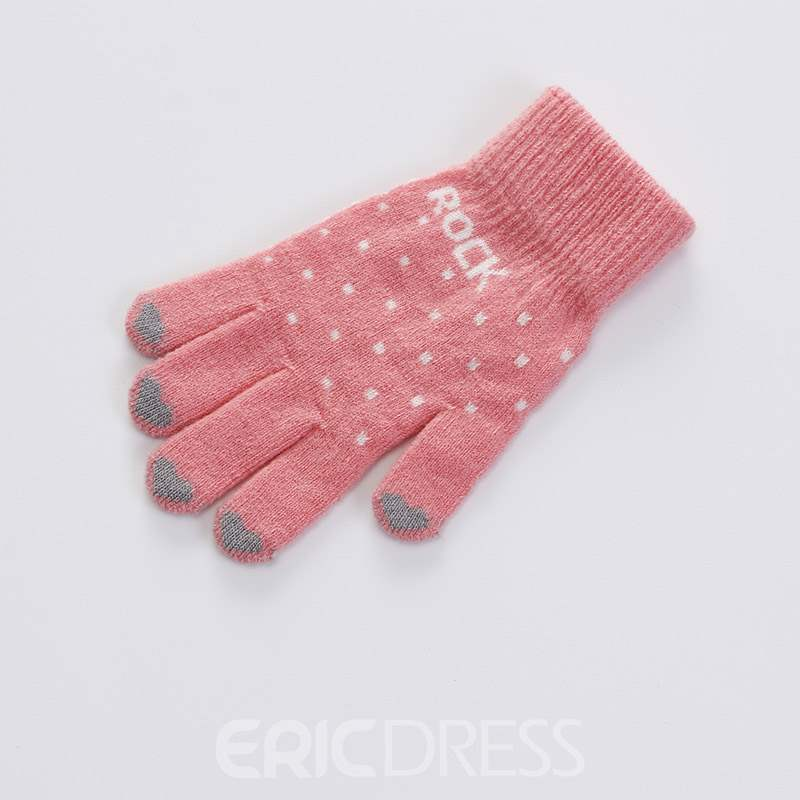 Ericdress Letter Casual Winter Gloves