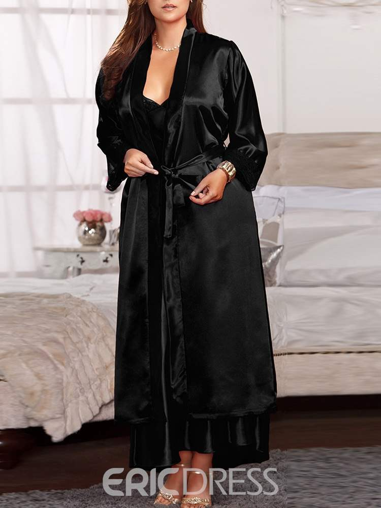 Ericdress Cardigan Plain Lace-Up Robe