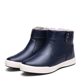 Ericdress Side Zipper Round Toe Men's Winter Boots