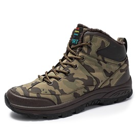 Ericdress Lace-Up Front Camouflage Men's Winter Boots