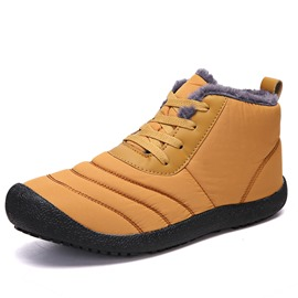 Ericdress Lace-Up Round Toe Men's Winter Boots