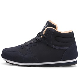 Ericdress Plain High-Cut Upper Lace-Up Men's Winter Sneakers