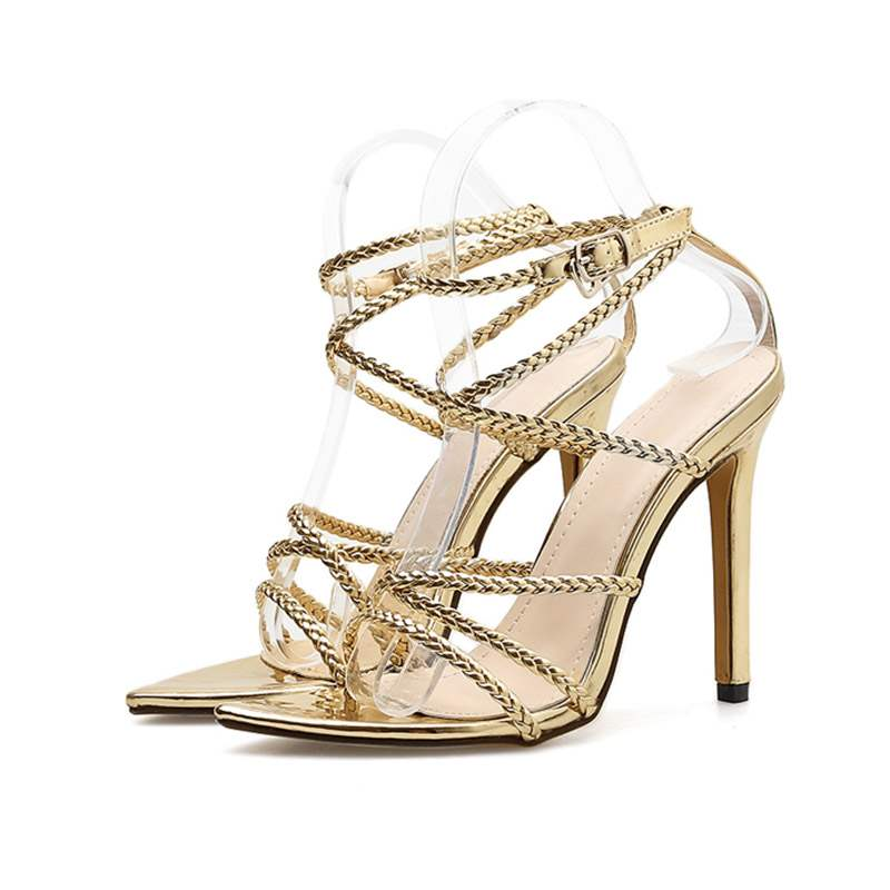 Ericdress Buckle Strappy Stiletto Heel Women's Sandals