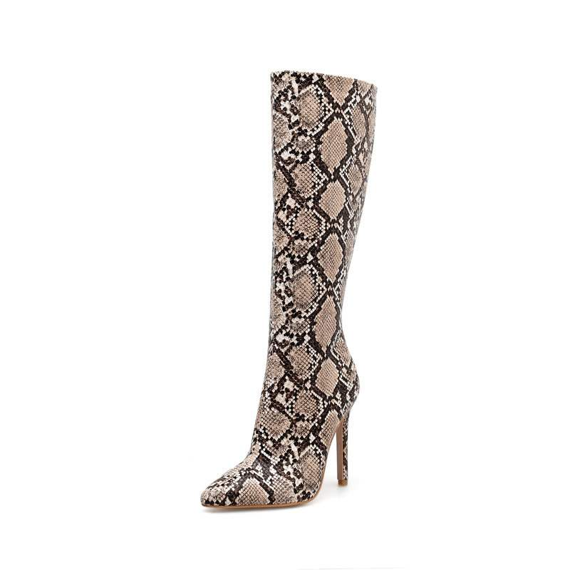Ericdress Serpentine Stiletto Heel Women's Knee High Boots