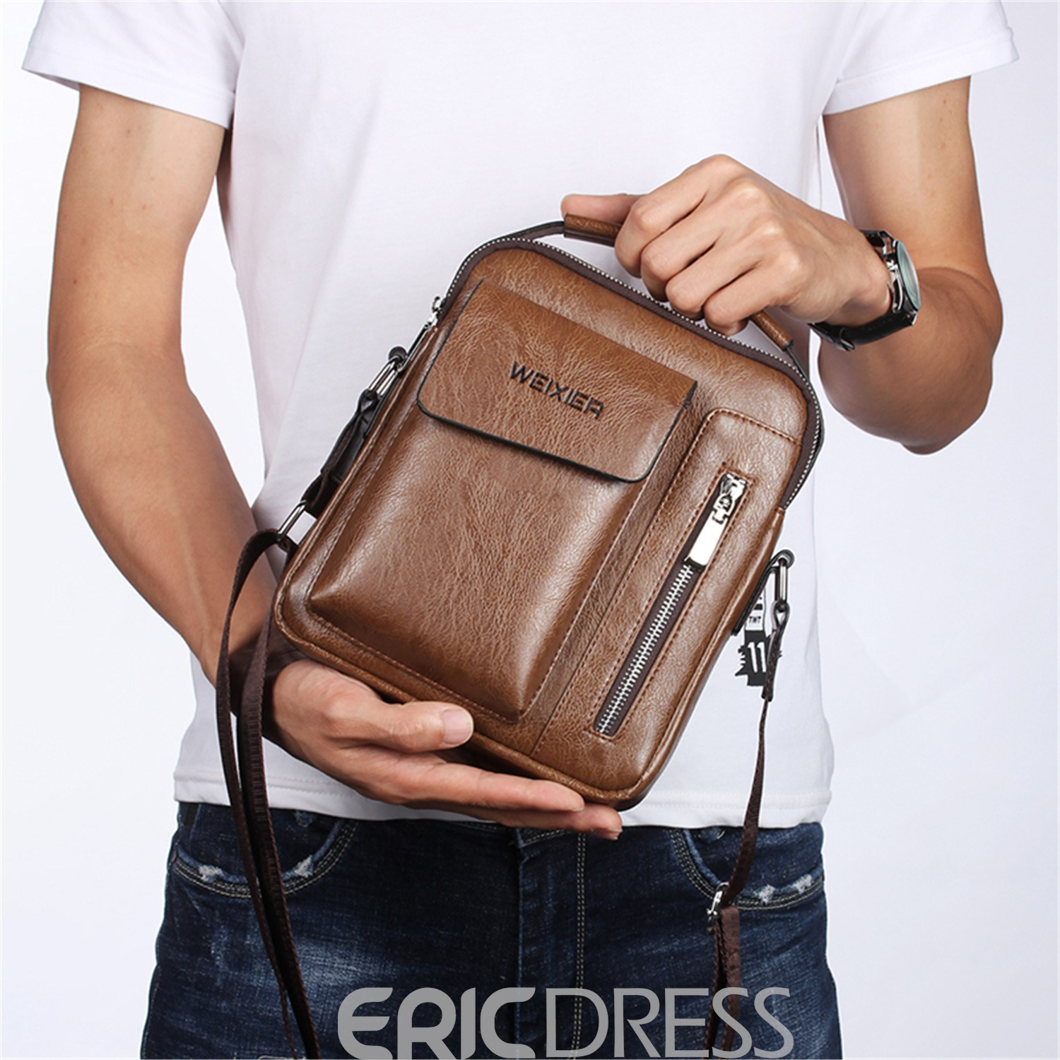 Ericdress Plain European PU Square Crossbody Bags