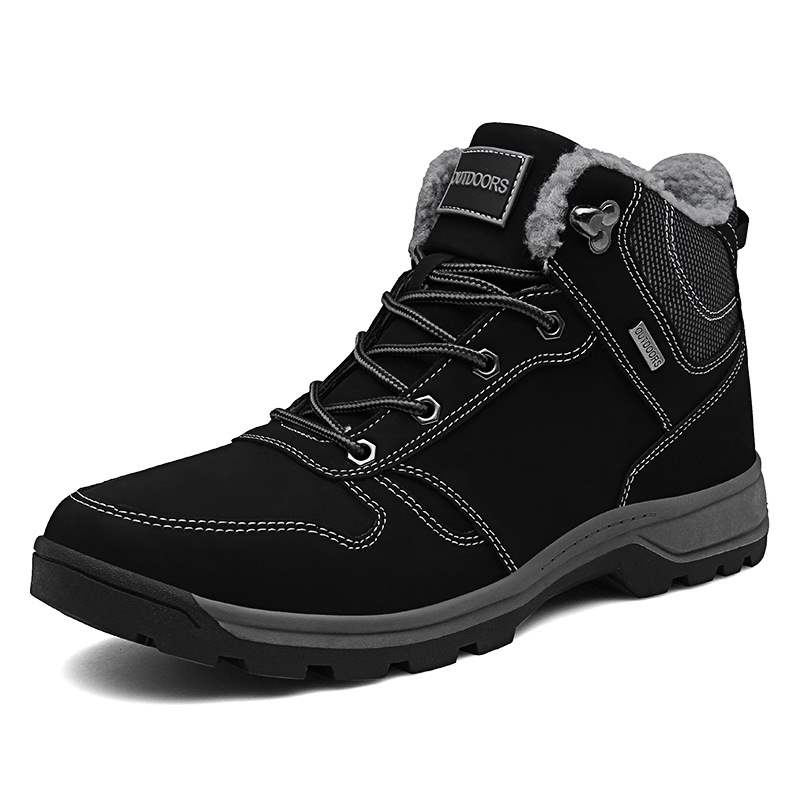 Ericdress Lace-Up Front Round Toe Men's Winter Boots