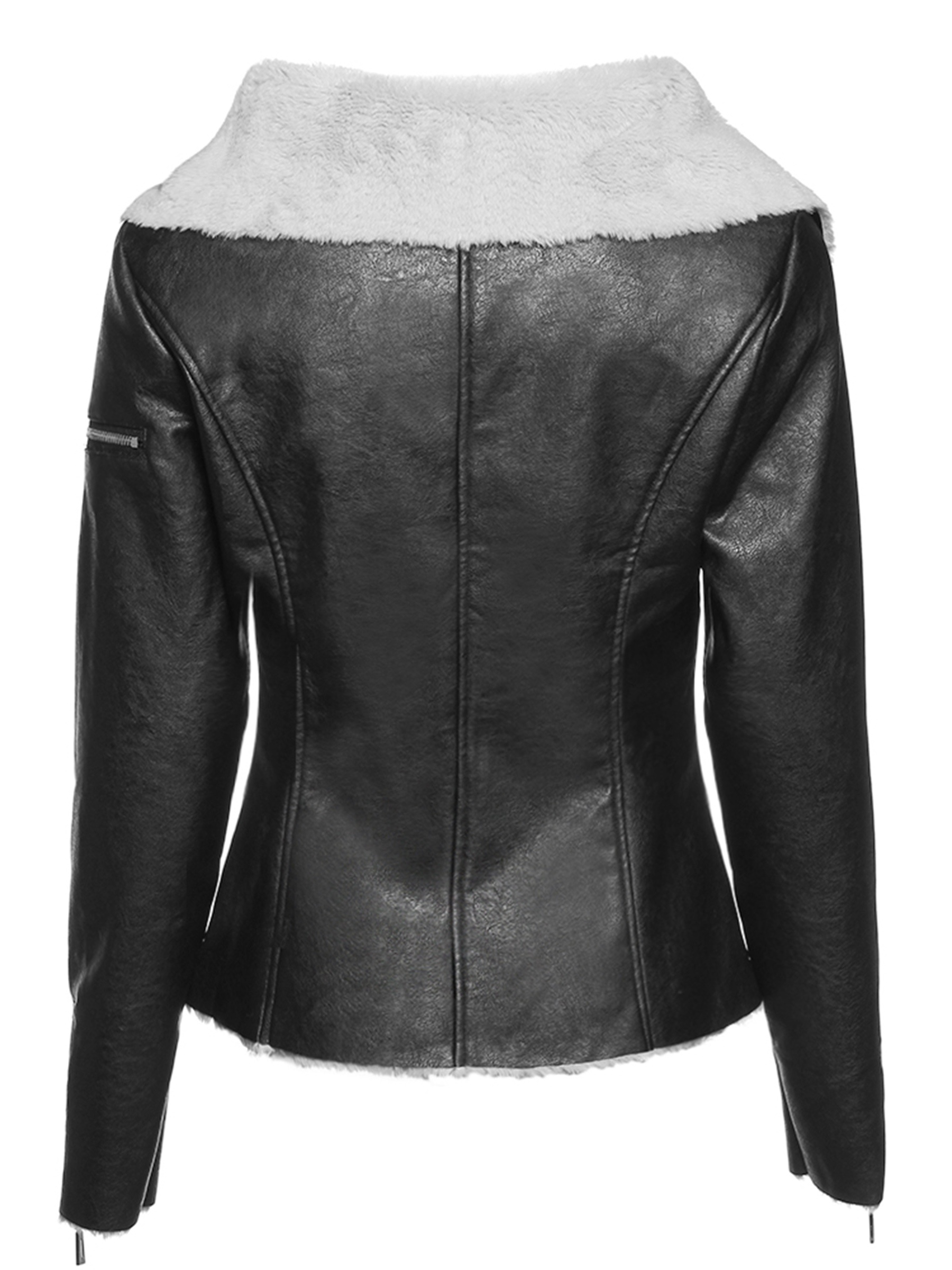 Ericdress Standard Zipper Faux Leather Fall PU Jacket
