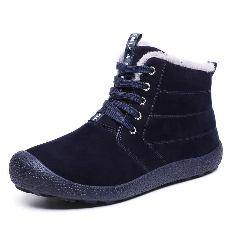 Ericdress Plain Round Toe Lace-Up Front Men's Winter Boots