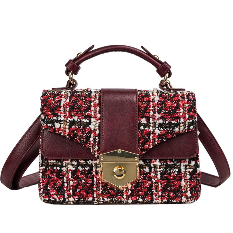 Ericdress Plaid Lock Rectangle Tote Bags