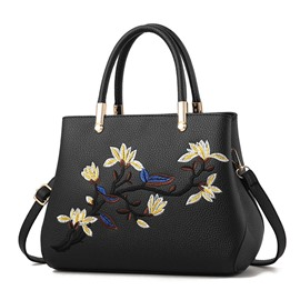 Ericdress PU Floral Embroidery Tote Bags