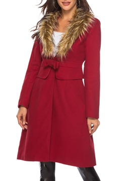 Ericdress Bowknot Regular Lapel Loose Overcoat