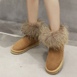 Ericdress Slip-On Faux Fur Women's Snow Boots