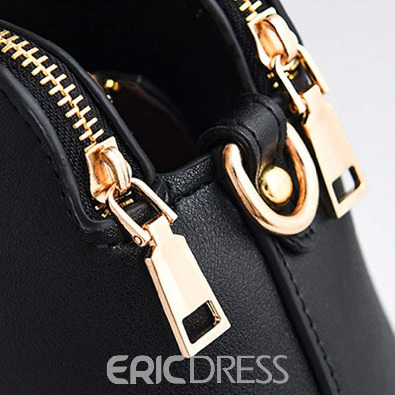 Ericdress Plain PU Thread Shell Tote Bags