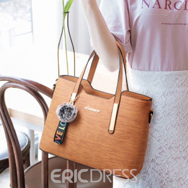 Ericdress PU Plain Thread Square Tote Bags