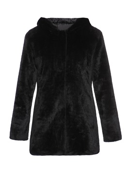 Ericdress Single-Breasted Straight Hooded Fall Overcoat