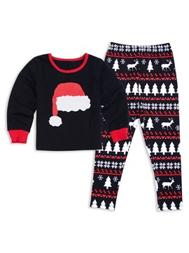 Ericdress Christmas Hat Print Family Pajamas