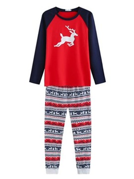 Ericdress Cotton Christmas Elk Print Family Pajamas