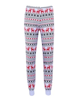 Ericdress Christmas Snowflake Elk Skinny Pajama Pants for Women