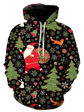 Ericdress Print Christmas Pullover Mens Casual Hoodies