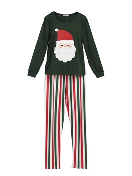 Ericdress Christmas Santa Claus Stripe Family Pajamas