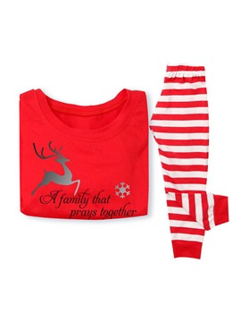 Ericdress Christmas Animal Letter Stripe Family Pajamas