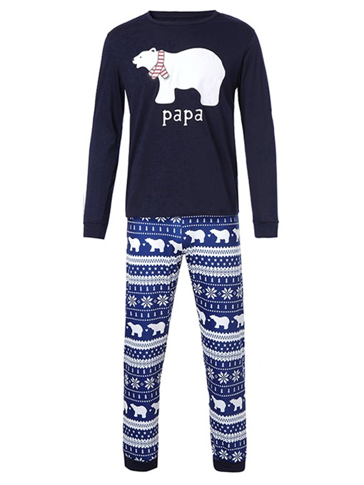 Ericdress Christmas Bear Letter Print Family Pajamas