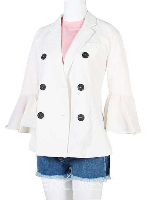 Ericdress Plain Nine Points Sleeve Double-Breasted Fall Standard Casual Blazer
