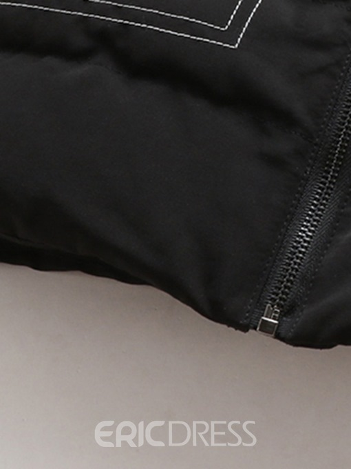 Ericdress Plain Lapel Straight Pocket Mens Casual Down Jacket