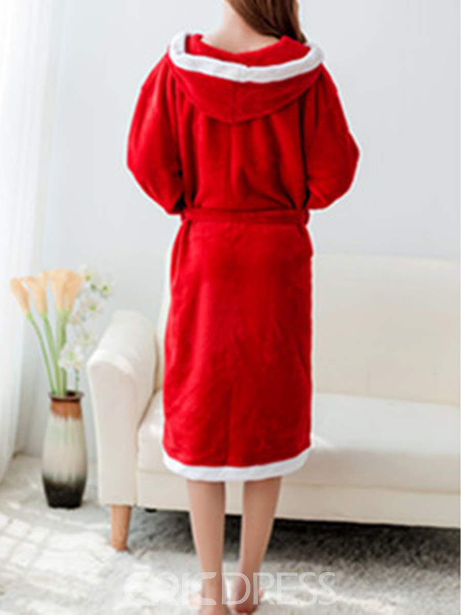 Ericdress Long Red Christmas Robe for Women