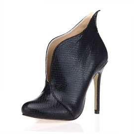 Ericdress Stiletto Heel Round Toe Plain Women's Ankle Boots