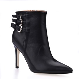 Ericdress Plain Pointed Toe Side Zipper Women's Ankle Boots