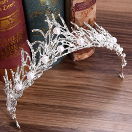 Ericdress Crown Pearl Hair Accessories Tiara