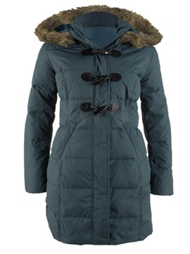 Ericdress Straight Horn Button Cotton Padded Jacket