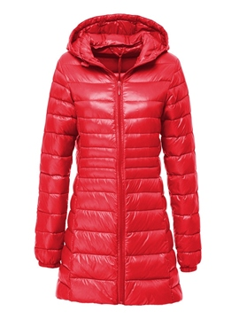 Ericdress Zipper Slim Thin Mid-Length Cotton Padded Jacket