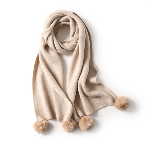 Ericdress Winter Style Plush Ball Scarf