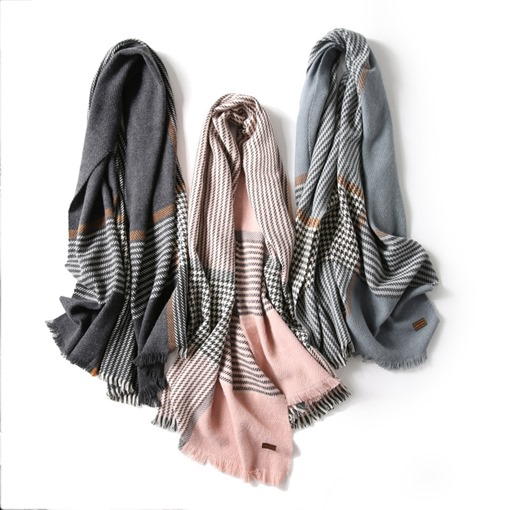 Ericdress Stripe Style Plaid Scarf