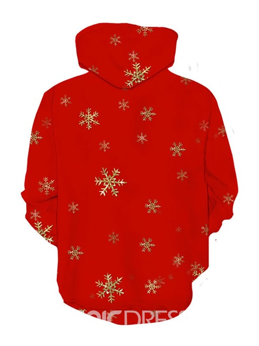 Ericdress Christmas Printed Cartoon Mens Pullover Hoodies
